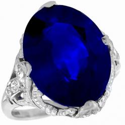 Art Deco 10.86ct Oval Cut Ceylon Sapphire Diamond Ring - See more at: http://www.newyorkestatejewelry.com/rings/art-deco-10.86ct-oval-cut-ceylon-sapphire-diamond-ring-/22717/1/item#sthash.tTDYB8lm.dpuf