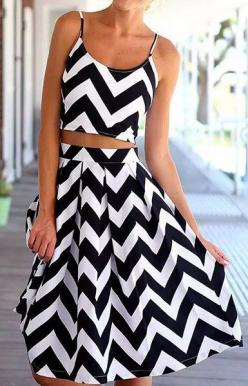 B&W Club Two Pieces Dress – Trendy Road