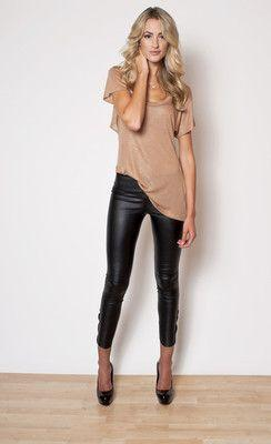 BLANK NYC - VEGAN LEATHER LEGGING - like the overall look although I'd go for a different colour scheme
