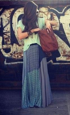 Boho Chic Maxi Skirt for fall?!: Chic Carefree, Boho Chic, Hippie Outfit, Gypsy Style, Patchwork Skirts, Boho Maxi Skirt, Maxi Skirts