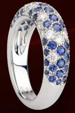 Cartier Ring in Diamonds & Sapphires. This is my wedding band but with sapphires