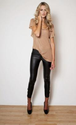 leather leggings- would love to be able to pull these off