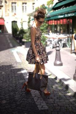 25 Trendy Summer Style: Summer Styles, Summer Dress, Fashion Streetstyle, Fashion Style, Street Styles, The Dress, Top Knot, Floral Dresses, My Style