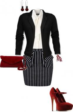 """Business Chic"" by erinlindsay83 on Polyvore: Chic Brandiminter, Chic Red, Wear To Work, Business Attire, Outfit Black, Work Outfits, Combo Work, Business Chic, Business Outfits"