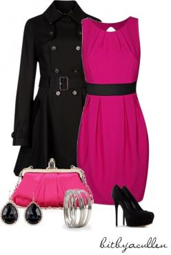 """For the Love of Pink!"" by bitbyacullen on Polyvore: Nice Dresses, I M Pink, Dream Closet, Favorite Color, Black Pink, Beautiful Color, Dress Outfits, Fashion Dresses Coats"