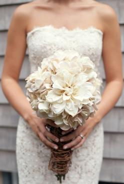 Absolutely love the dress, and this gorgeous, rustic wedding bouquet.: Wedding Idea, Wedding Dress, Dream Wedding