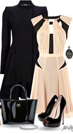 BLUSH & BLACK....this is absolutely gorgeous!!: Classy Outfit, Party Outfit, Dream Closet, The Dress