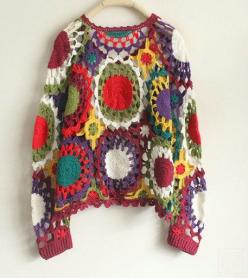 Crochet Top Inspiration ❥༺✿ƬⱤღ  http://www.pinterest.com/teretegui/✿༻: Handmade Crochet, Long Sleeve Tops, Crochet Tops, Crochet Inspiration, Crochet Clothing
