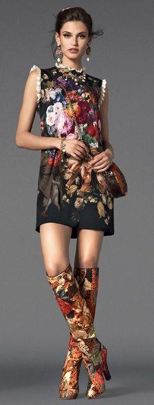 Dolce & Gabbana FW 2013. Fabulous. With leggings, of course, or at least tights for us middle-aged women. :): Dolce Gabbana, Patentrubber, Dress Boots, The Dress, Dolce & Gabbana, Fw 2013