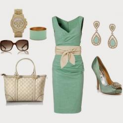Elegant Outfit: Fashion Style, Elegant Outfit, Dream Closet, Mint Green Dress, Tiffany Blue, Work Outfits, Like Outfit, Mint Dress
