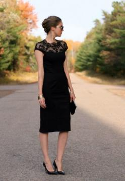 Going To A Wedding? We've Got You Covered! – Fashion Style Magazine - Page 7: Wedding Guest Dress, Fashion Style, Formal Wedding Guest, Black Laces, Little Black Dresses, Black Lace Dresses, Funeral Dress, Funeral Outfit