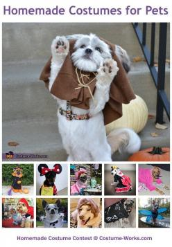 Homemade Costumes for Pets - a huge gallery of DIY Halloween costumes!: Halloween Dog Costume, Diy Dog Costume, Dog Halloween Costume, Halloween Costume Dog, Diy Pet Costume, Halloween Pet, Costume Idea, Homemade Costume