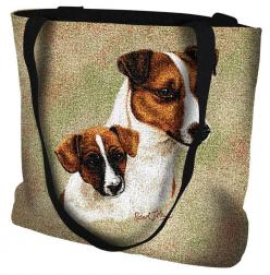 Jack Russell Terrier Dog with Puppy Portrait Tote Bag: Jack Russells, Portrait Tote, Jack Russell Terriers, Dogs Puppies, Jack O'Connell, Dog Portraits, Tote Bags