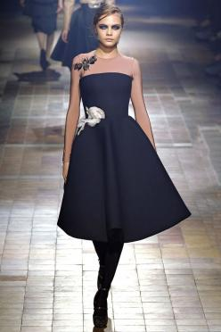 Lanvin Fall 2013 RTW - Review - Fashion Week - Runway, Fashion Shows and Collections - Vogue: 2013 Rtw, Fashion Week, Fall 2013, Lanvin Paris, Winter 2013, Lanvin Fw, Lanvin 2013, Lanvin Fall, Black Dress