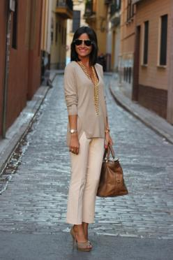 Neutrals...gotta be tan like that though - thank goodness for year round spray tans ;-): Neutral Outfit, Nude, Street Style, Spring Summer, Work Outfits, Mystyle, My Style