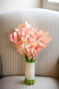 Pink calla lily wedding flower bouquet, bridal bouquet, wedding flowers, add pic source on comment and we will update it. www.myfloweraffair.com can create this beautiful wedding flower look.  Photo by Andrew Jade Photography: Lily Bouquet, Wedding Ideas,