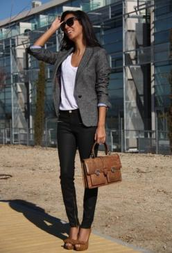 simple for when I  can not find a single thing to wear in my closet: Casual Friday, Grey Blazers, Gray Blazer, Workoutfit, Work Outfits, Business Casual, My Style, Work Cloth