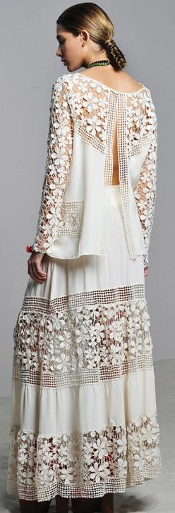 Skirt and top: Silk Skirt, Fashion Style, Wedding Dress, Crochet Inspiration