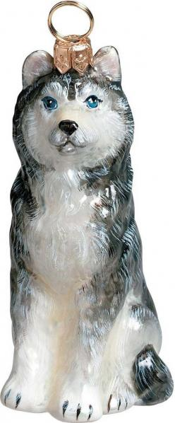The Pet Set Siberian Husky Glass Christmas Ornament - Handcrafted in Europe by Joy to the World Collectibles: Glass Christmas Ornaments, Animal Ornaments, Ornaments Joy, Joy Pets, Ornaments Animal, Dog Ornaments, Husky Dogs, Ornaments Dog