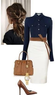 This Pin was discovered by Andie Comala. Discover (and save!) your own Pins on Pinterest. | See more about white pencil skirts, pencil skirts and white skirts.: Work Clothe, Classy Outfit, Pencilskirt, Workoutfit, Pencil Skirts, Work Outfits, My Style