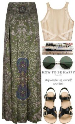 """""""Be happy."""" by carocuixiao ❤ liked on Polyvore I really just want the sunglasses: Boho Outfit, Hippie Outfit, Bohemian Outfit, Festival Outfit, Hippy Outfit, Crop Top"""