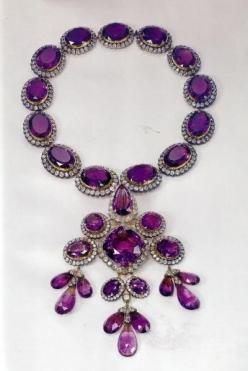 Amethyst necklace from the Italian Royal Family