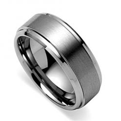 BESTSELLER! Mens Wedding Band, Tungsten Ring, Titanium Color Ring, Satin Engagement Ring (8mm) - Available Sizes 8-15 Half Sizes $24.99: Men'S, Wedding Bands, Rings, Engagement Ring, Titanium Color