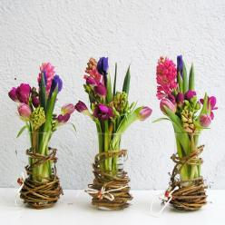 ♆ Blissful Bouquets ♆ gorgeous wedding bouquets, flower arrangements & floral centerpieces - trio of spring arrangements
