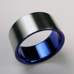 Cobalt blue and satin titanium band