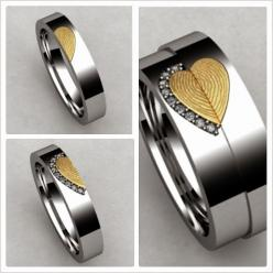 Couples Custom Engraved Tungsten Fingerprint Rings His and Hers Matching Wedding Bands Personalized Also Available in Gold & Rose Gold Color on Etsy, $189.99: Rose, Matching Wedding Bands, Wedding Ideas, Tungsten Fingerprint, Weddings, Fingerprints, C