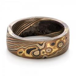 CUSTOM MEN'S MOKUME WEDDING BAND RING by JOSEPH JEWELRY --  https://www.josephjewelry.com/mens-wedding-rings/custom-mens-mokume-wedding-band-100673: Joseph Jewelry, Custom Men S, Mens, Weddings, Wedding Bands, Mokume Wedding, Men S Mokume, Men Wedding