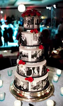 Edible photos on the cake! So unique and such a cute idea!