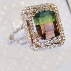 Engagement Ring  75 Carat Tourmaline Engagement by stevejewelry, $5999.00