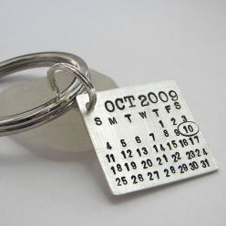 Groom's key chain. So he can never forget your anniversary.