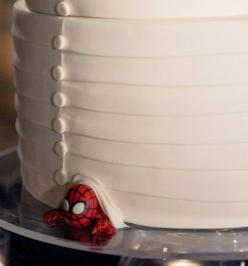 I ♥ this idea: At the bottom of the cake, hide whatever the groom likes... sports mascot, band logo, anything. Because it's just as much his day as it is yours.: Band Logo, Wedding Ideas, Wedding Stuff, Spiderman, Wedding Cakes, Dream Wedding, Groom C
