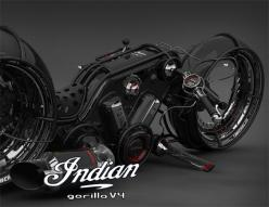 Indian Gorilla V4 Motorcycle by Vasilatos Ianis- Aren't people just really creative at times? Wow!