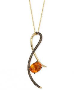 Le Vian Chocolatier Citrine (1-3/4 ct. t.w.) and Chocolate Diamond (1/3 ct. t.w.) Pendant Necklace in 14k Gold