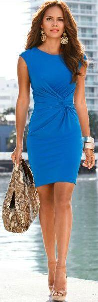 Look what this Summer dress does for your waist. Just add a light jacket for the office. BuyerSelect.com