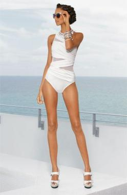 Miraclesuit® 'Jena' One Piece Swimsuit | Nordstrom      I would wear it as a Top with shorts & Heels!: Swim Wear, Bathing Suits, Beach Wear, Style, One Piece Swimsuits, Swimwear, Bath, Bathingsuits
