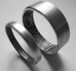 One of a kind - Finger print wedding bands