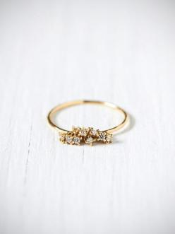 Pinterest: @marmstrongrock: Diamond Rings, Gemstone Rings, Diamonds, Jewelry Accessories, Gold Rings, Diamond Cluster Ring, Free People, Dainty Ring