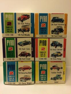 Pyro 1/32 scale double kits, yes! Two complete model cars in each box.