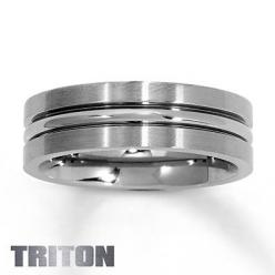 Tungsten Ring Silver Inlay Men's Wedding Band Titanium Color Size 6 13 | eBay: Wedding Ring, Wedding Ideas, Men Wedding Bands, Band Titanium, Color Size, Inlay Men S