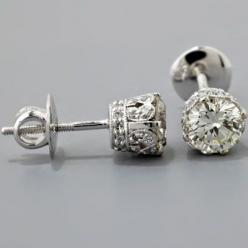 vintage diamond earrings.: Diamond Earrings Love, Girl, Style, Diamond Studs, Dream, Vintage Diamonds, Jewelry, Sparkle, Bling Bling