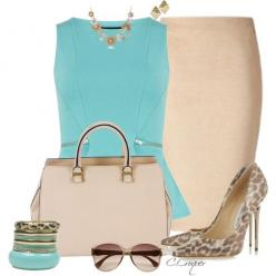 Classy Tiffany Blue, created by ccroquer on Polyvore: Fashion Styles, Blue Khahi, Tiffany Blue, Work Outfits, Classy Tiffany, Polyvore Fashion, Lawyer Fashion