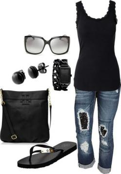 .. Discover and share your fashion ideas on http://misspool.com find more women fashion on http://misspool.com: Summer Fashion, Women S, Casual Outfit, Fashion Style, Dream Closet, Spring Summer, Black Outfit, Summer Outfits, My Style