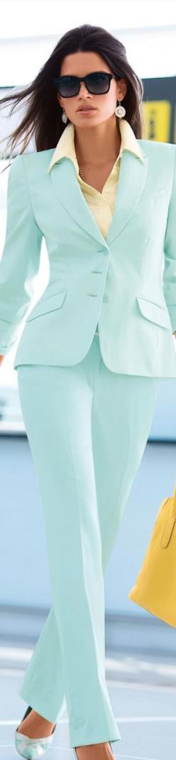 Madeleine Spring/Summer 2014    CF/T www.SocietyOfWomenWhoLoveShoes https://www.facebook.com/SWWLS.Dallas Twitter @ThePowerofShoes Instagram @SocietyOfWomenWhoLoveShoes: Pant Suits, Pastel Pant, Blue Suits, Fashion Style, Spring Summer, Pastel Colors, Spr