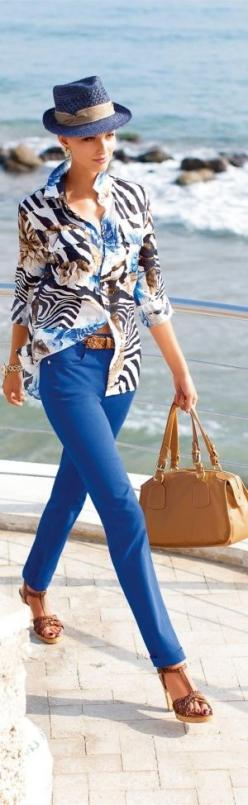 #street #fashion summer blue @wachabuy: Summer Blue, Summer Outfit, Beach Outfit, Fashion Style, Summer Style, Beach Style, Street Style