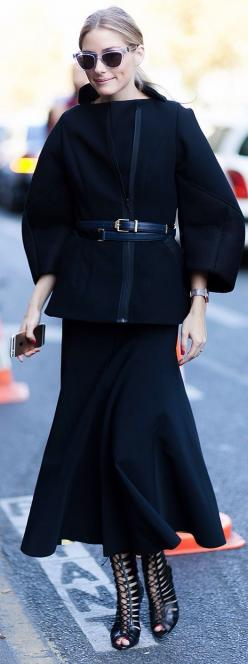 Street Style. Love it all. To make this work appropriate, just change the shoes.: Oliviapalermo, Jacket, Maxi Skirt Outfits, Fashion Style, Street Styles, Palermo Style, Street Style Fashion