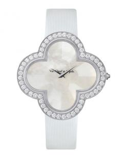 Alhambra Talisman White Gold Watch, 40mm, Women's - Van Cleef & Arpels